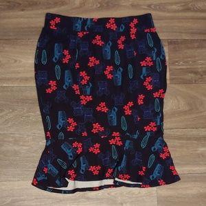 Torrid Retro Faded Lilo and Stitch Pencil Skirt